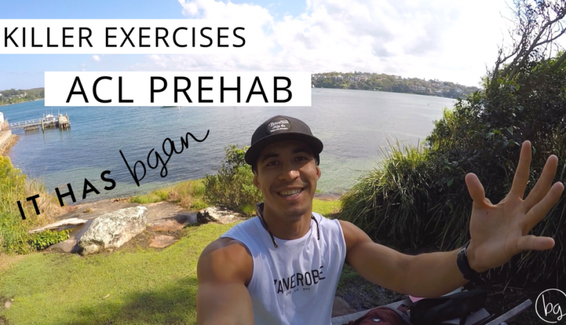 ACL prehab, ACL tear, ACL surgery, ACL rehab, Brendan Gan, Football, Exercises