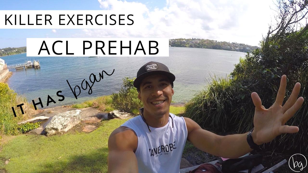 ACL prehab, ACL tear, ACL surgery, ACL rehab, Brendan Gan, Football, Exercises